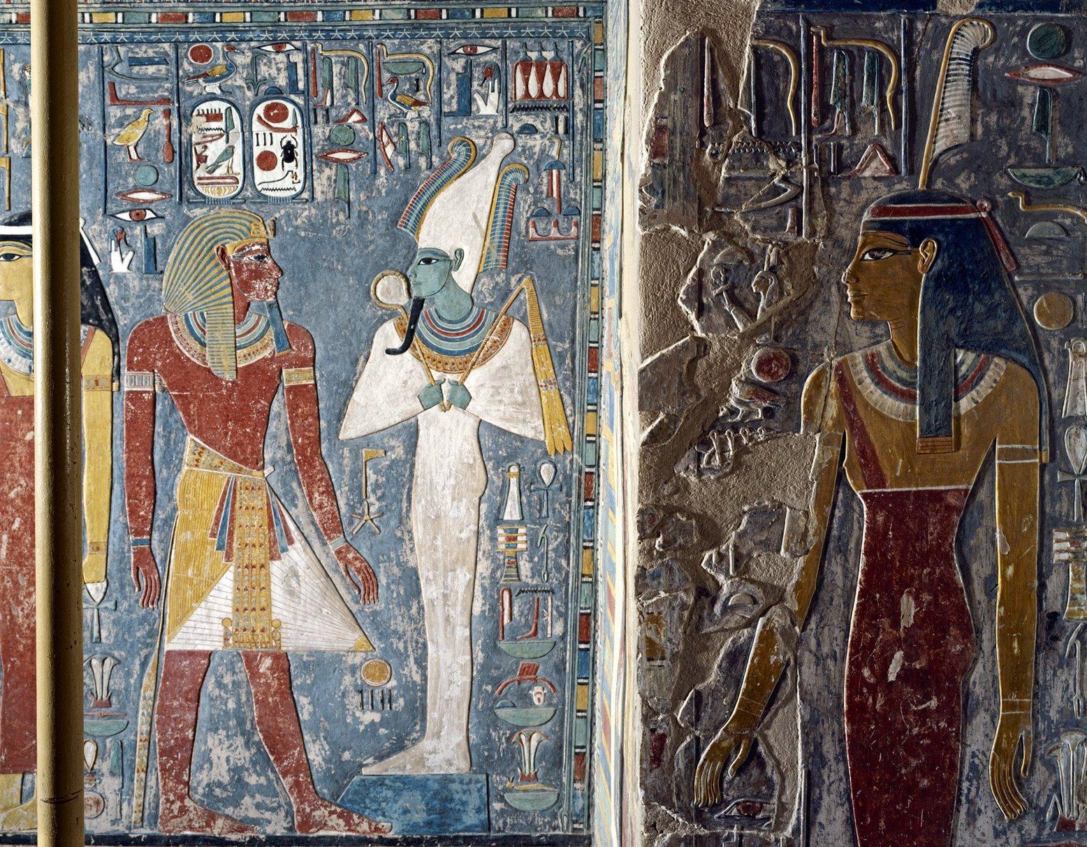 Horemheb appears before Osiris 1B - Sandro Vannini.png