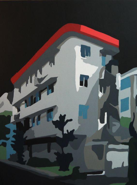 Tiong Bahru Black - Acrylic on Canvas - 80cm by 60cm - 2011 - $2000.jpg