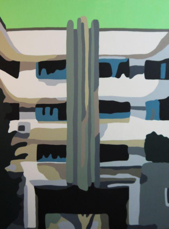 Tiong Bahru Green - Acrylic on Canvas - 102cm by 76cm - 2011 - $2300.jpg
