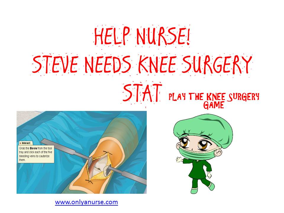 Play this great knee surgery game and help Steve's knee