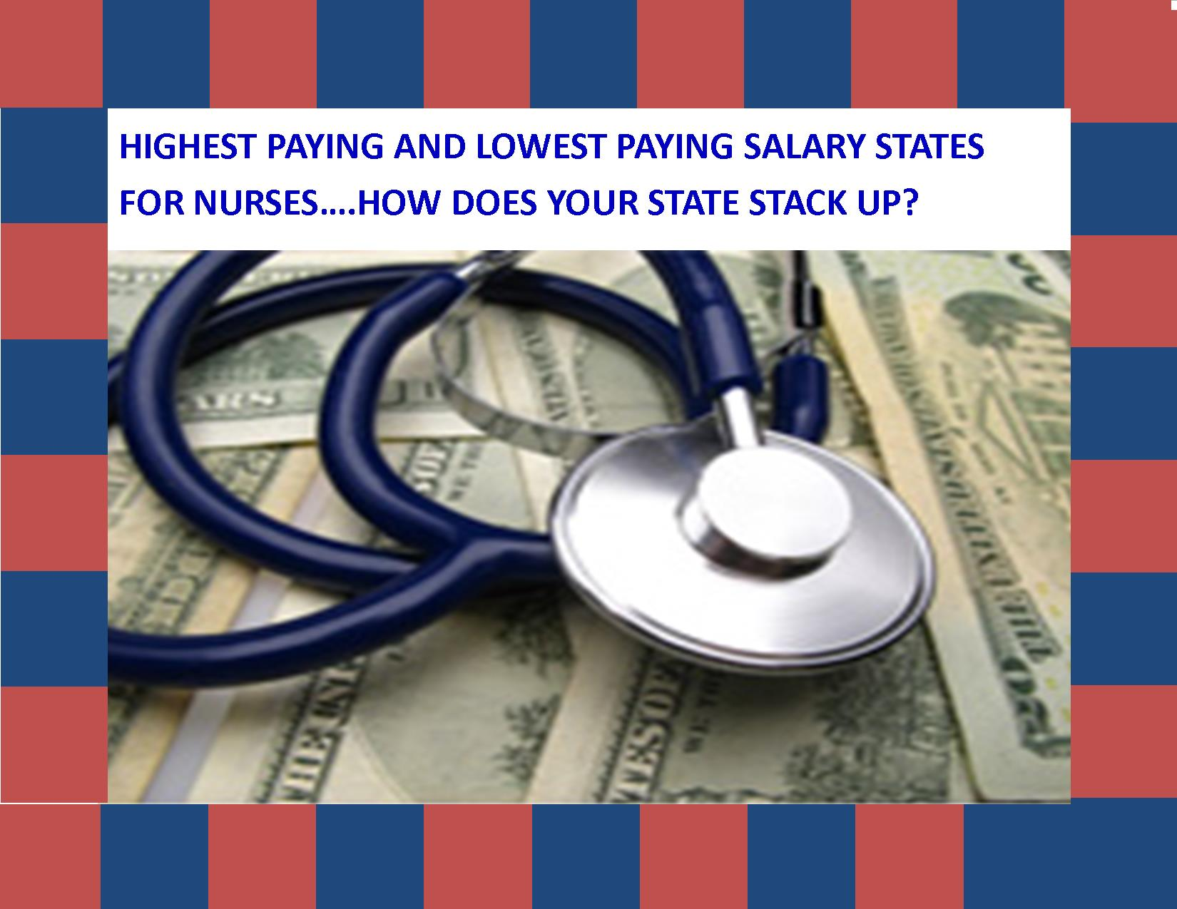 Highest and lowest paying salaries for nurses