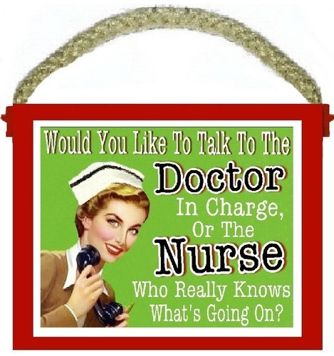Funny nurse signs