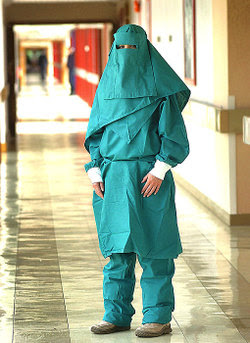 Muslim surgicla nurses no longer required to wash their hands prior to surgery