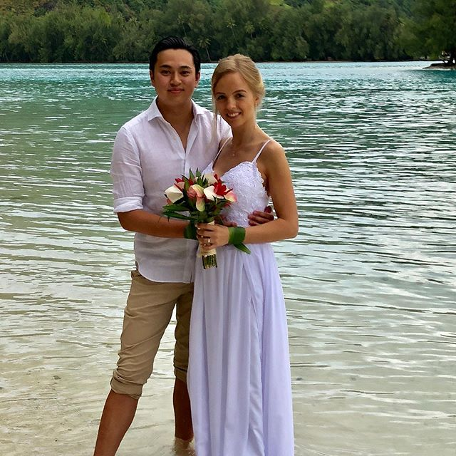 Marriage and sailing in French Polynesia! 😊❤️⛵️🏝☀️😎