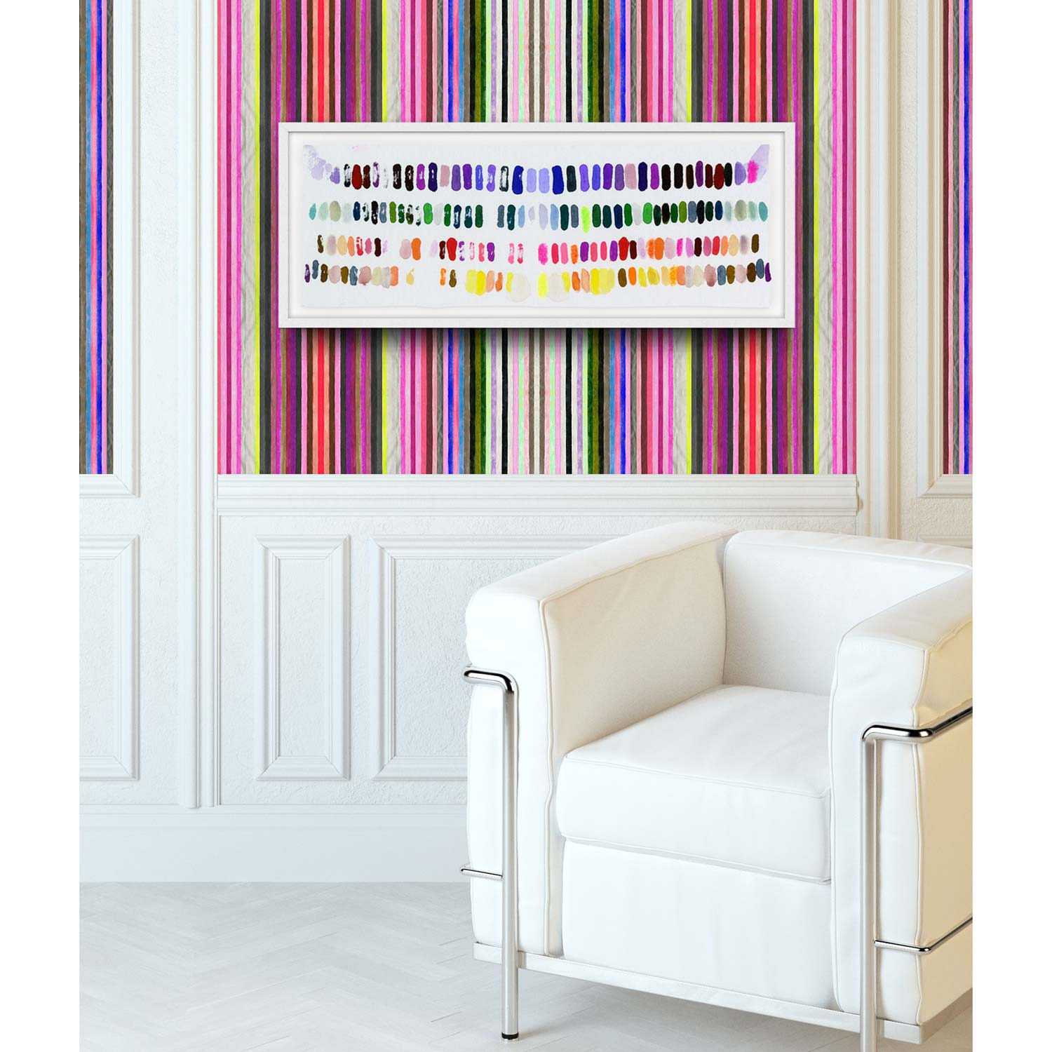 BOLD COLOR + SIMPLE PATTERNS - CHROMATIC HARMONY 23 WALLPAPERLEAVE A BIG MARK PRINT