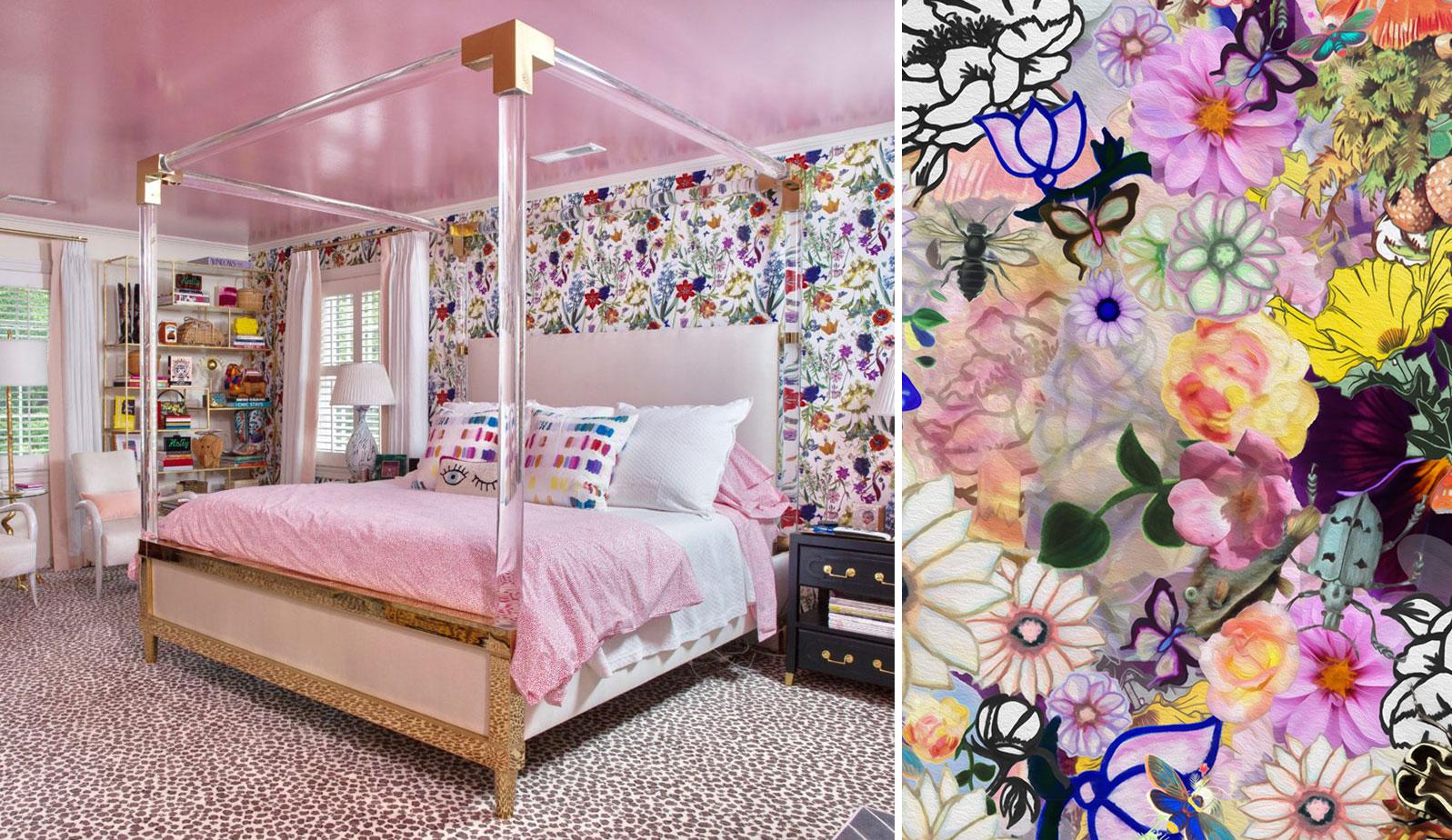 Kristi Kohut Colorful Floral Wallpaper