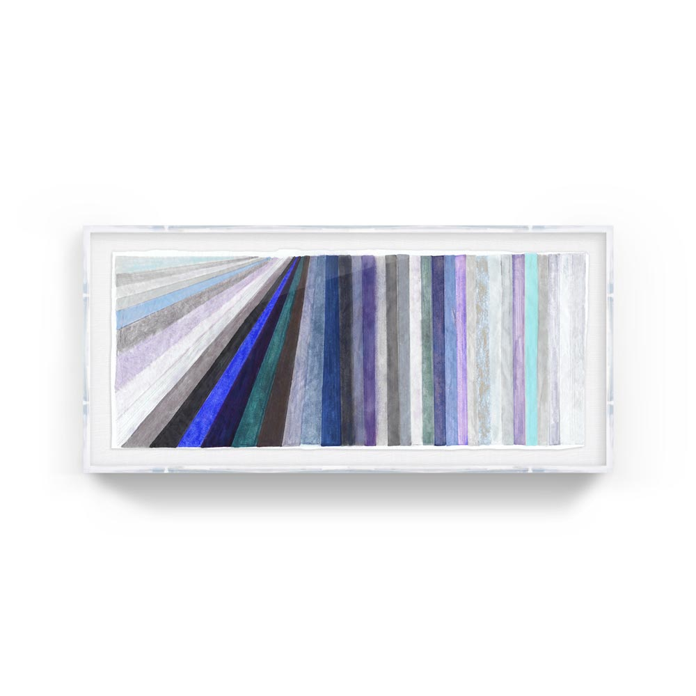 Live the Dream #2 - The stripe series have always been one of my favorites; they're simple but still make a huge impact on the wall. This piece is a great one for those who want to make a statement but need softer colors. Kristi's prints are so well done and come in beautiful frames its a great option for those who want to fill a large space on a budget! I'd put this one above a bed, its dreamy!