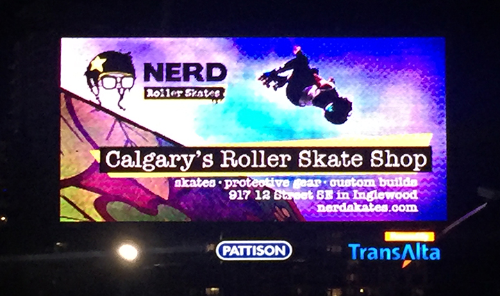 Nerd Billboard, getting pics of billboards is difficult. Sorry about the distortion.