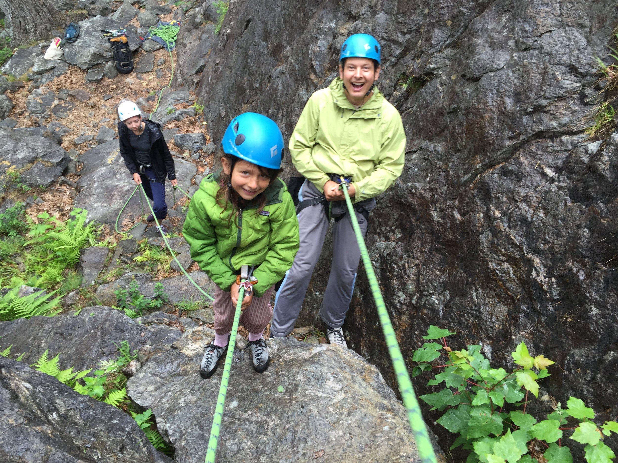 First climb, first rappel