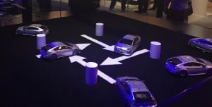 These demo cars are all equipped with Mobileye technology and won't run into one another.