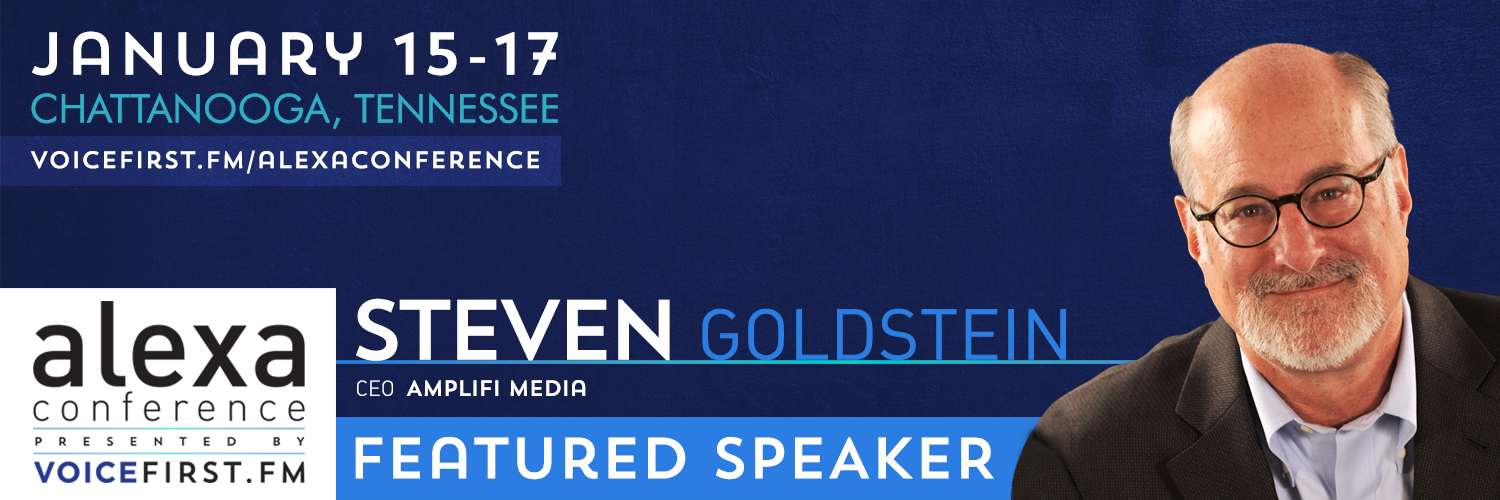 """I will be discussing smart speakers and podcasting at this """"Voice First"""" conference focused on smart speakers."""