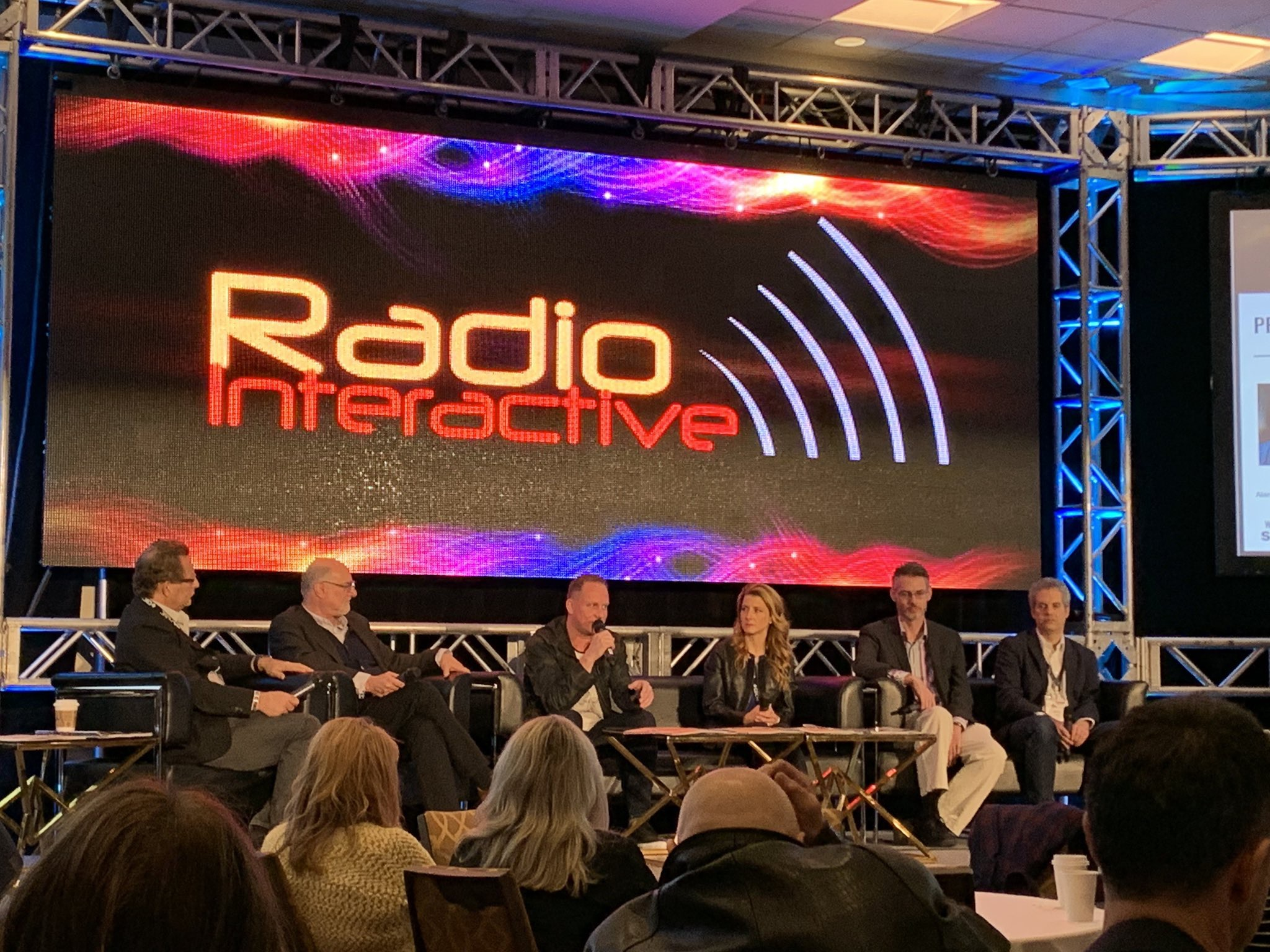 Alan Cross (Brain Dead Dog Productions), Steve Goldstein, Jeff Leake (Sirius/XM), Barbara Escoto (Bell Media), James Cridland (Podnews.net), Jeff Ulster (The Pod Exchange)