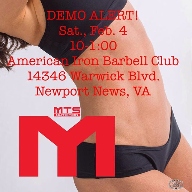 I'll be at AIBC tomorrow for their bench/deadlift competition.  Swing by for some great supps and a good show.  #mts #mtsnutrition @americanironbc
