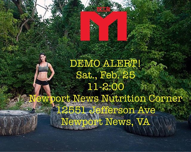 I'll be at Newport News Nutrition Corner until 2:00 pm today.  Stop on by to try the best protein on the market.  #mts #mtsnutrition #protein