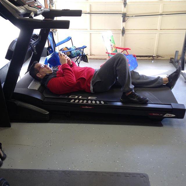 Best use of treadmill award 😂😂😂#springtellerfitness