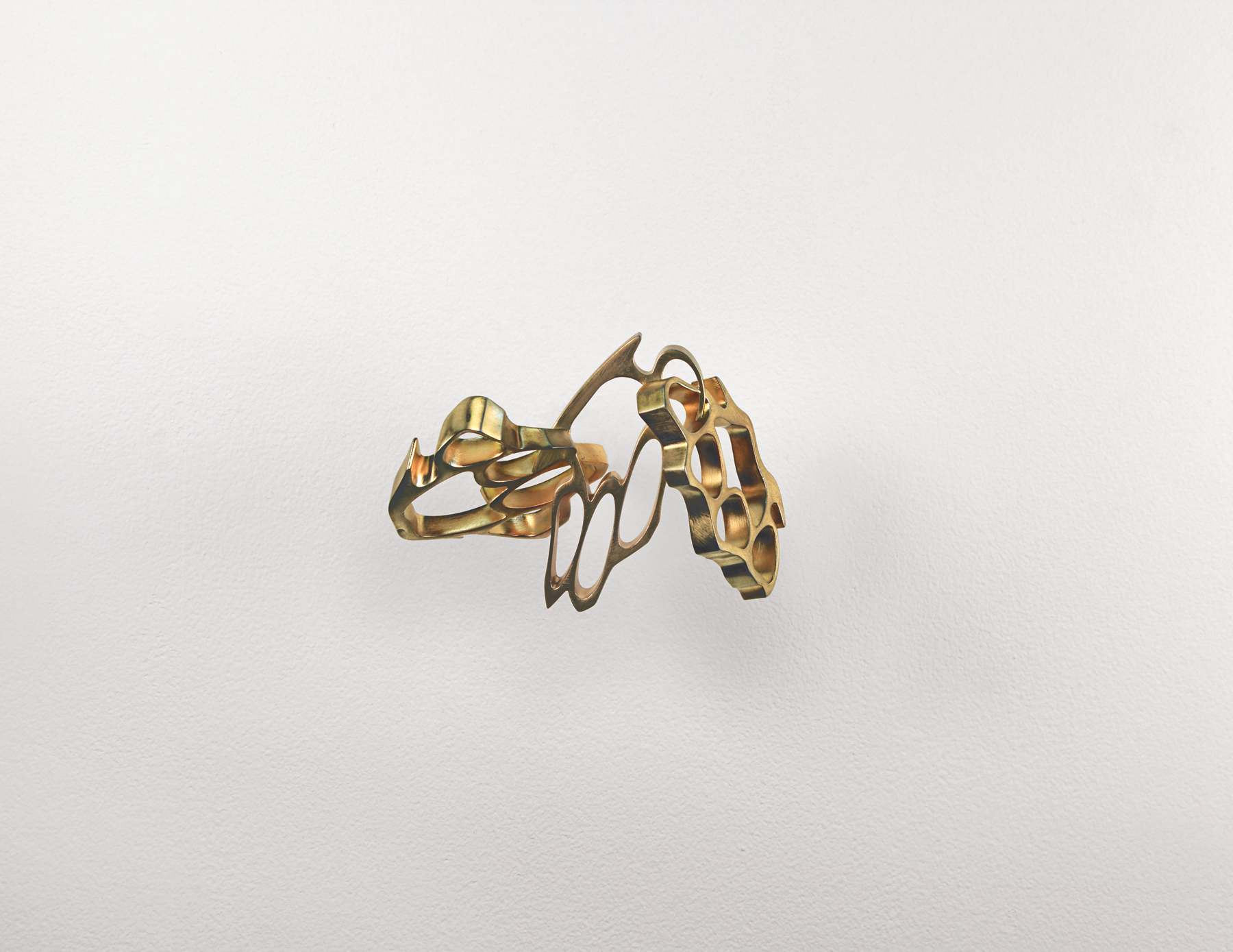 brass knuckles  (iv), 2010 brass, bronze 5 x 7 x 4 inches