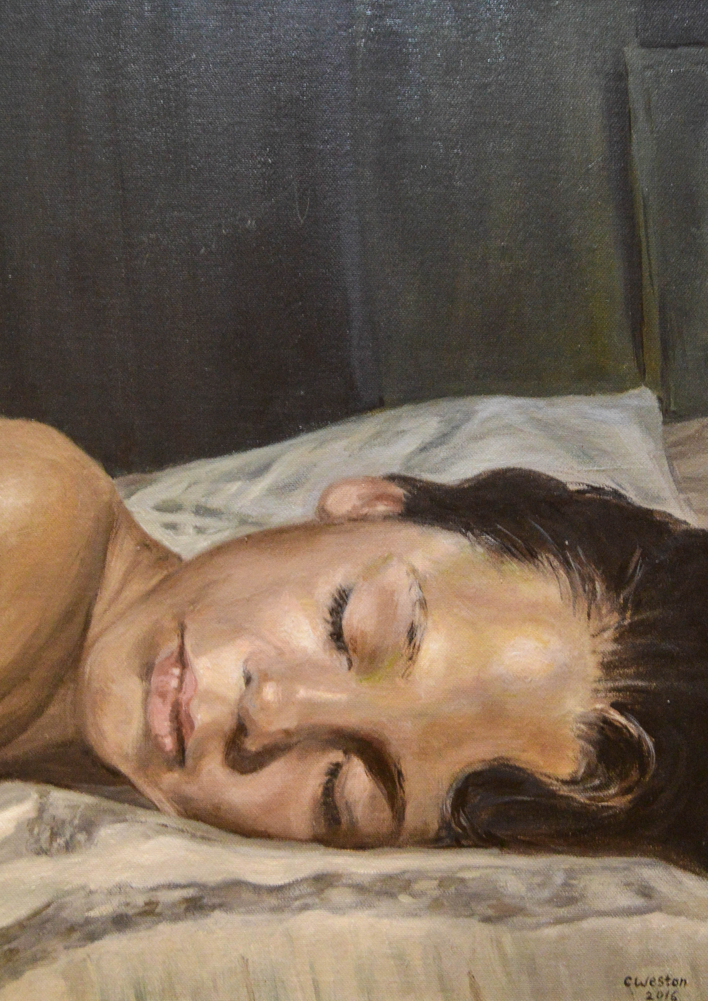 Oil painting by Claire Weston