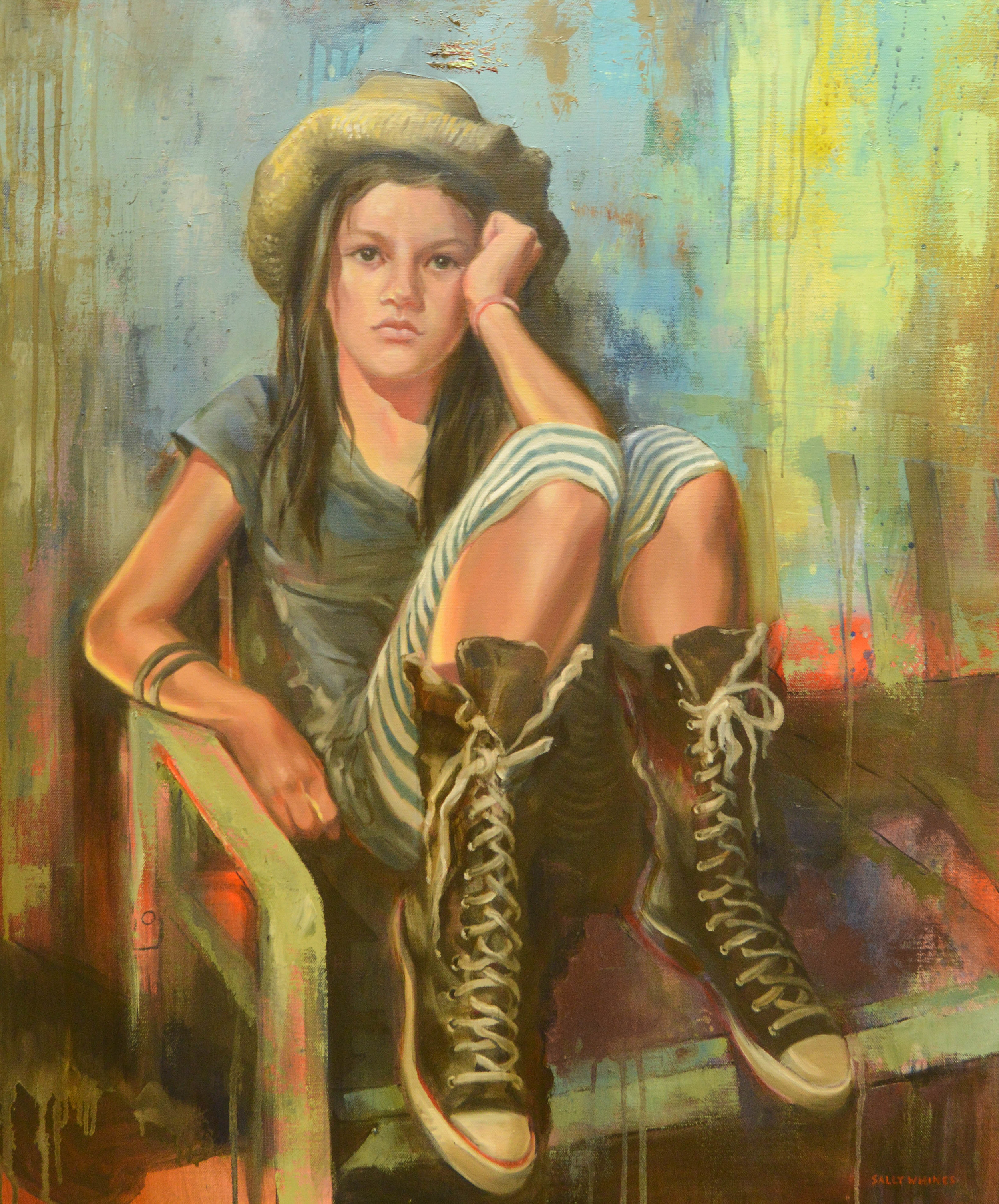 Oil painting by Sally Whines