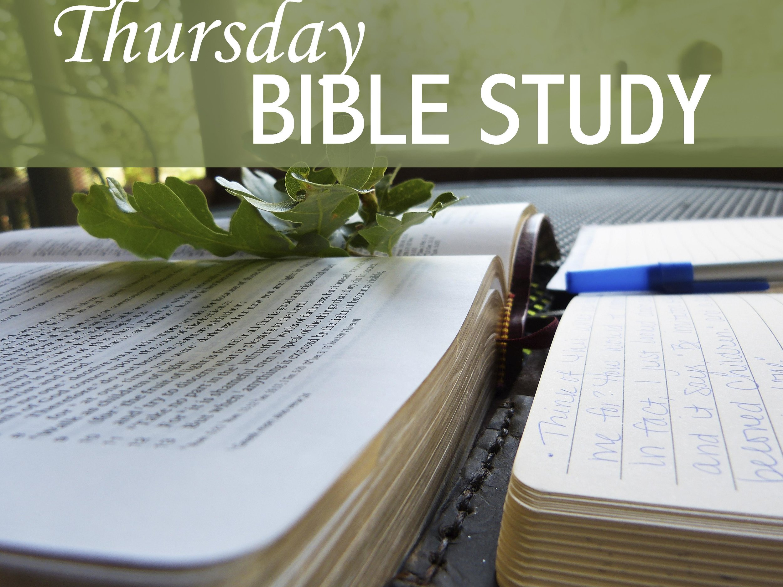 Thursday morning Bible Study - On Thursday mornings at 10:00 a.m. we have a Bible study group that meets in the Parish Hall library. They are currently studying chapters from the book Bible Women. Each week, there is a different topic and new members are always welcomed.