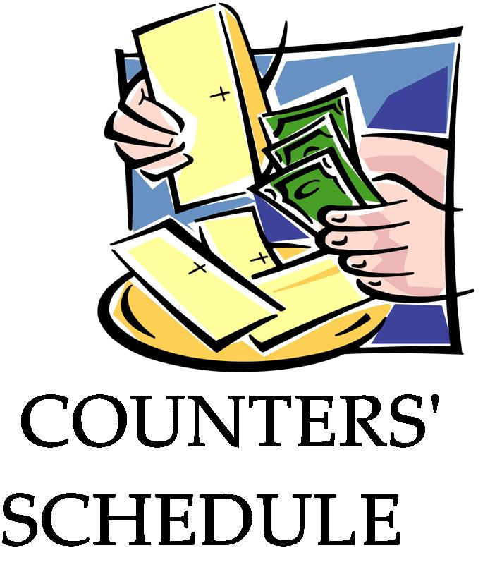 Counter's Schedule