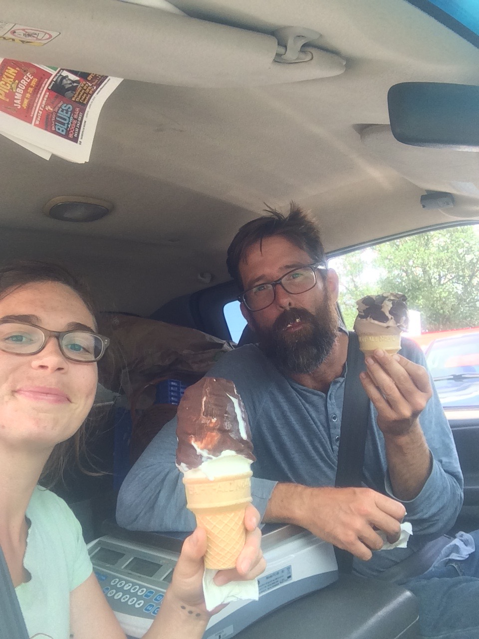 Well deserved dipped cone from bobby's dairy dip after market!