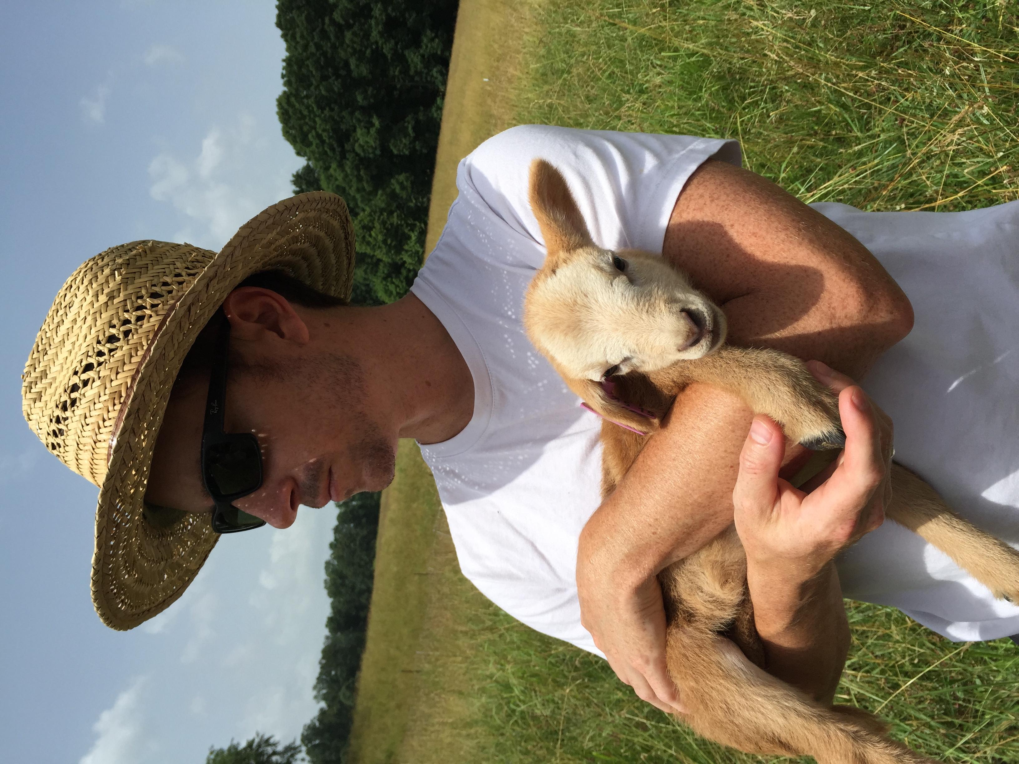 Brian and a lamb