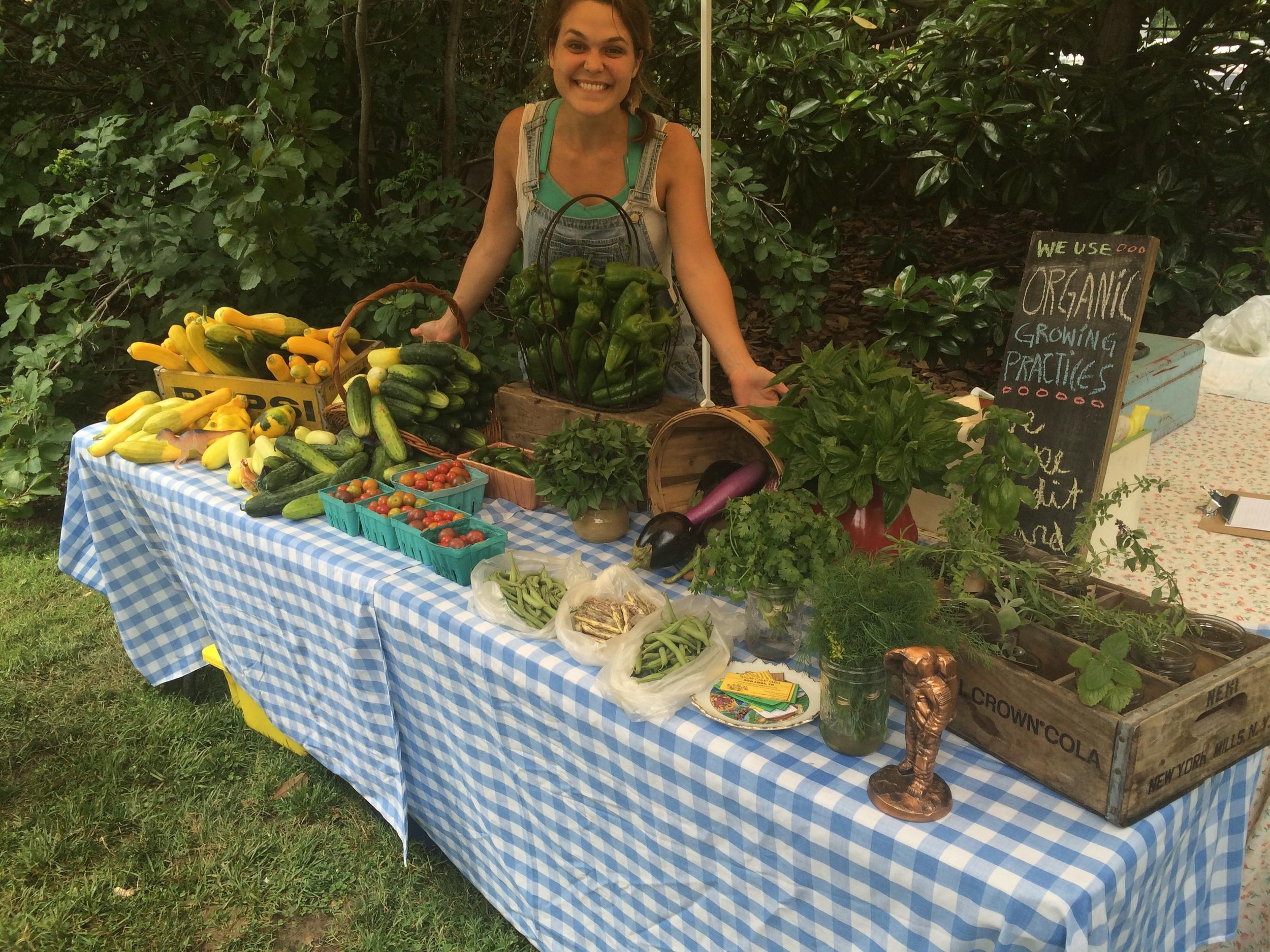 Cousin Sarah at the market!