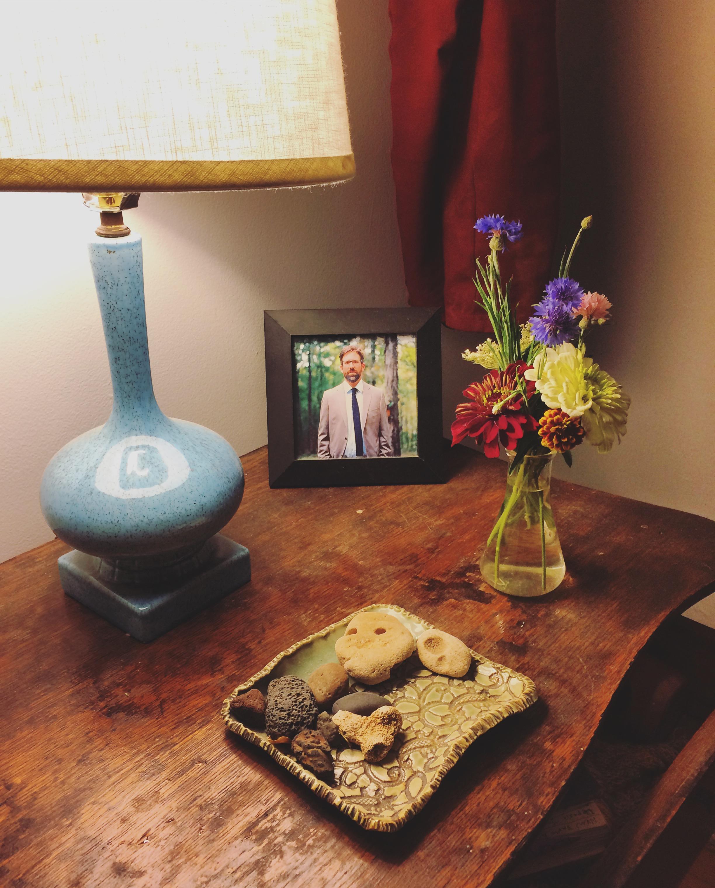 Fresh cut flowers on my dresser.