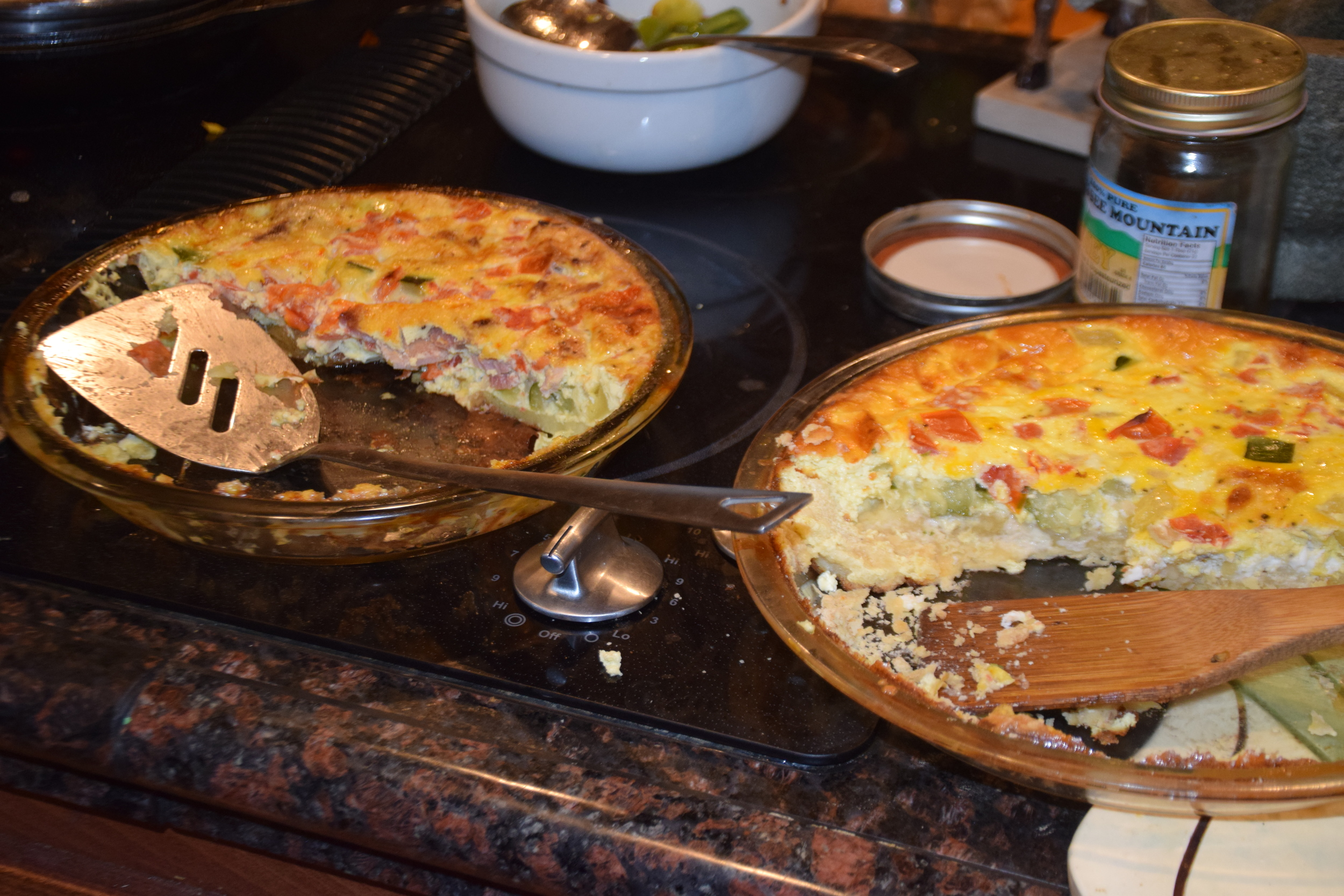 Veggieful quiches!