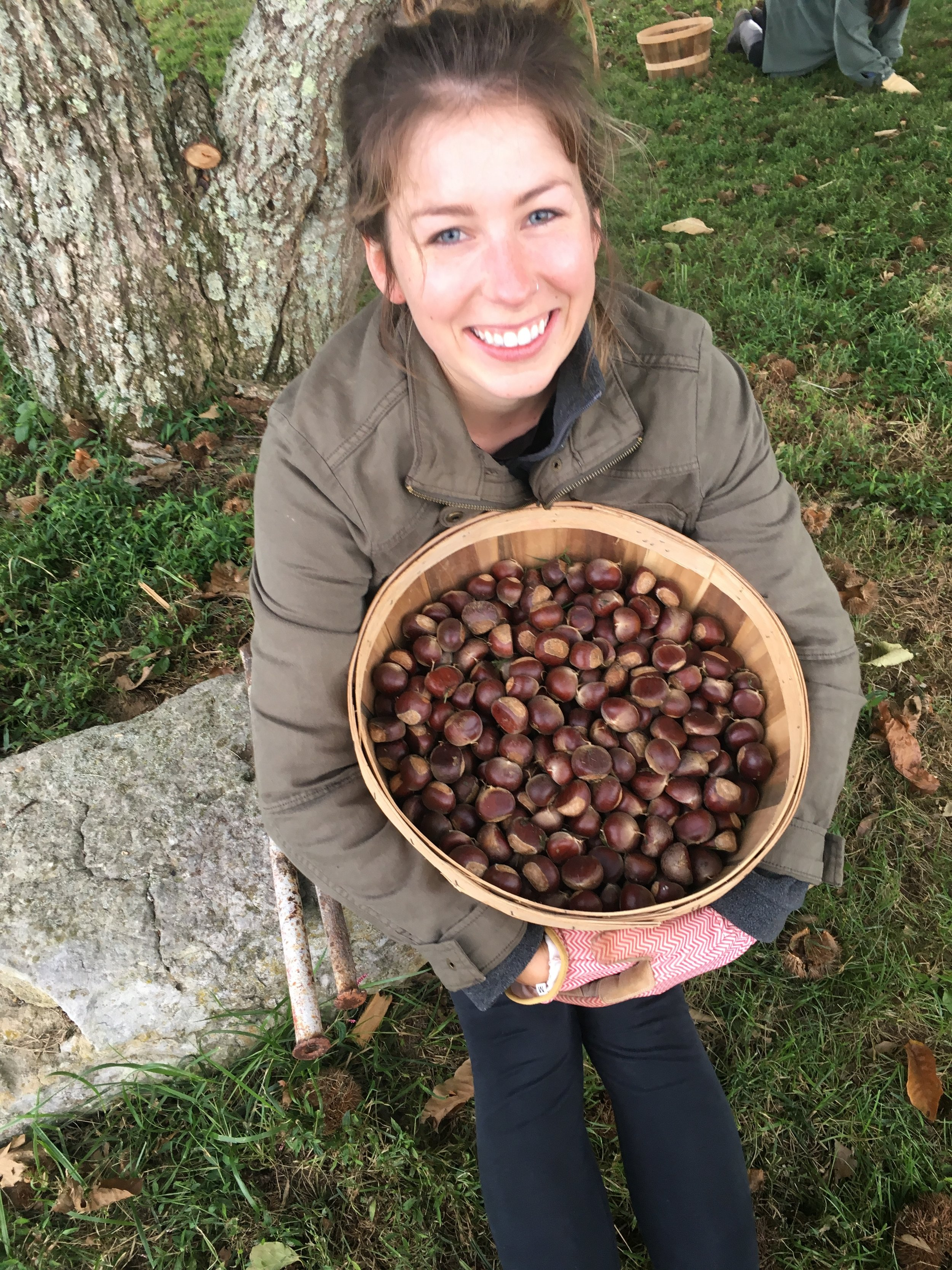 Mel with chestnuts!