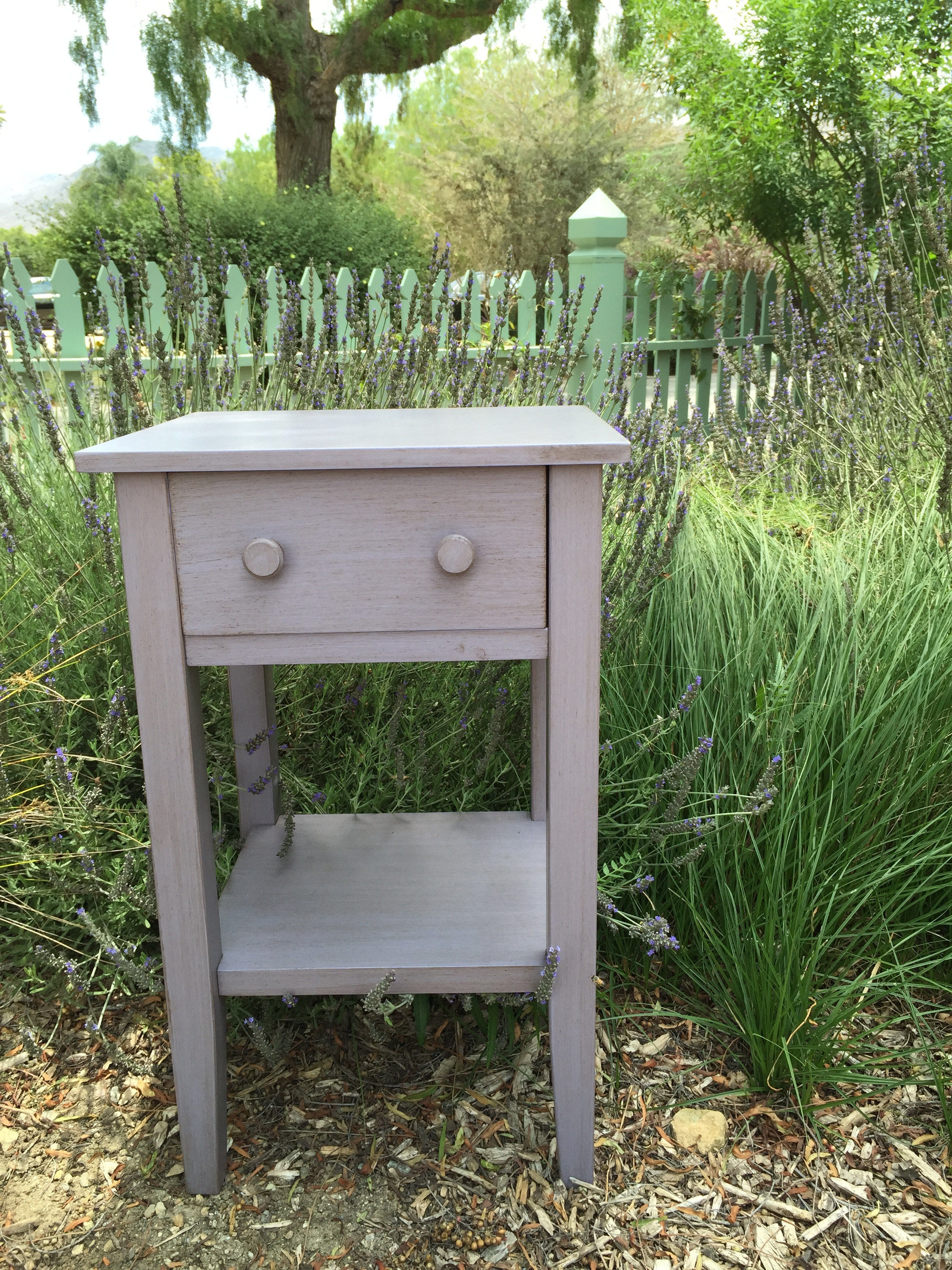 LAVENDAR SIDE TABLE - $20