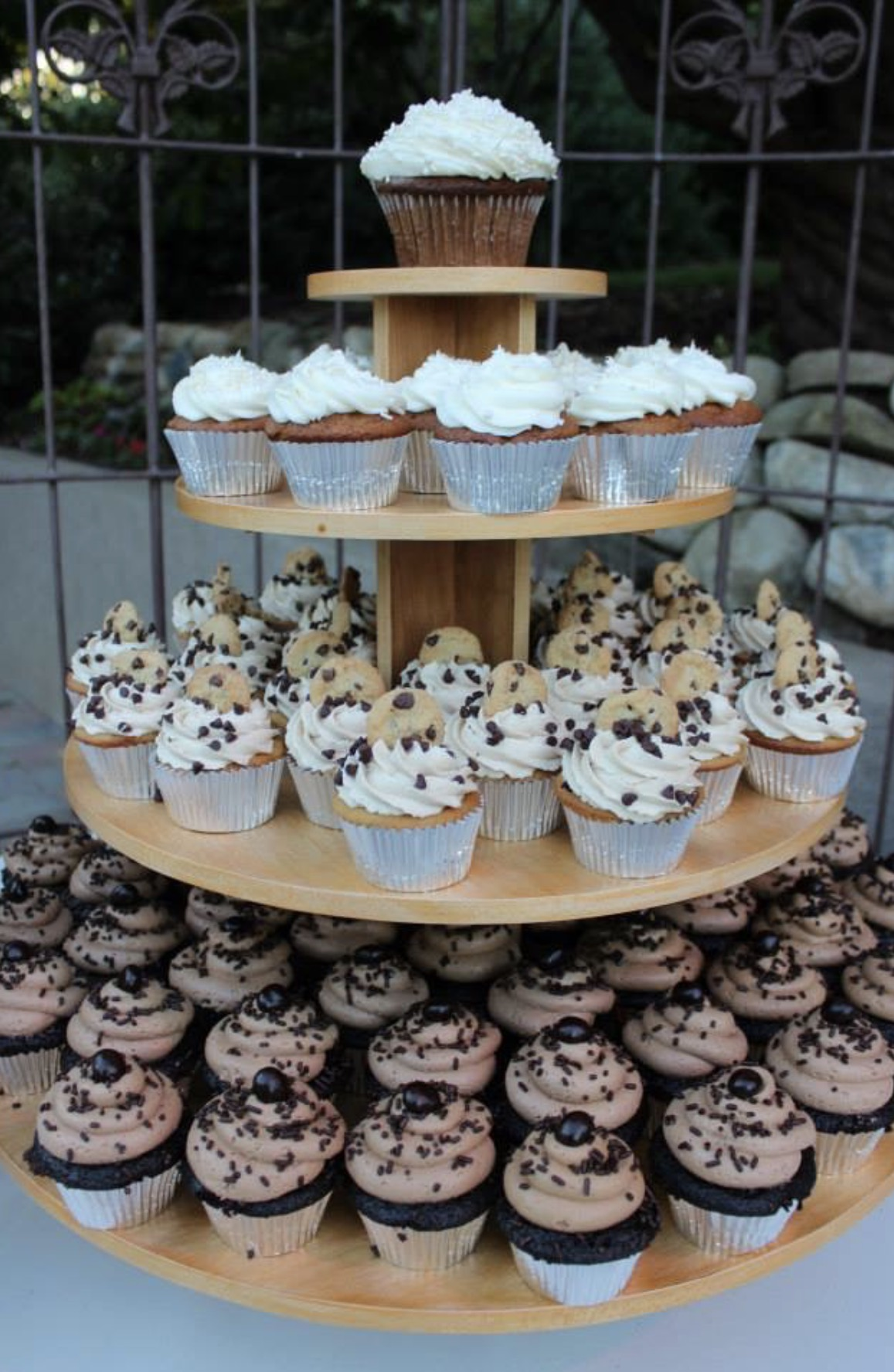 WOODEN CUPCAKE DISPLAY - $35