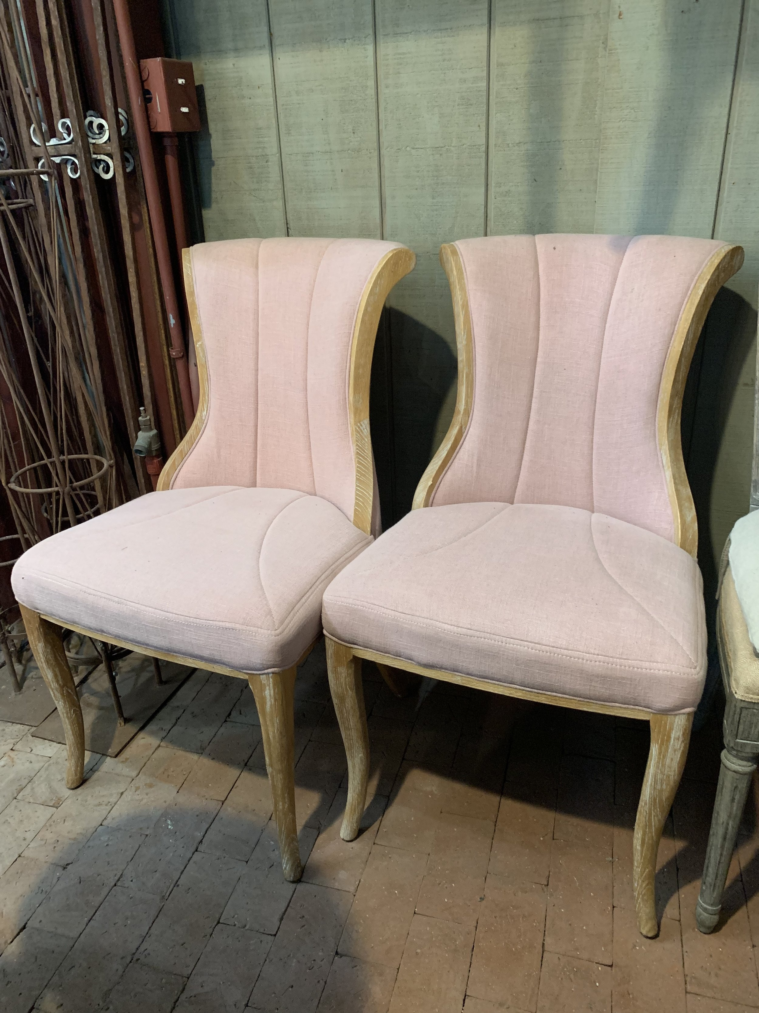 PINK BRIDE AND GROOM CHAIRS - $70