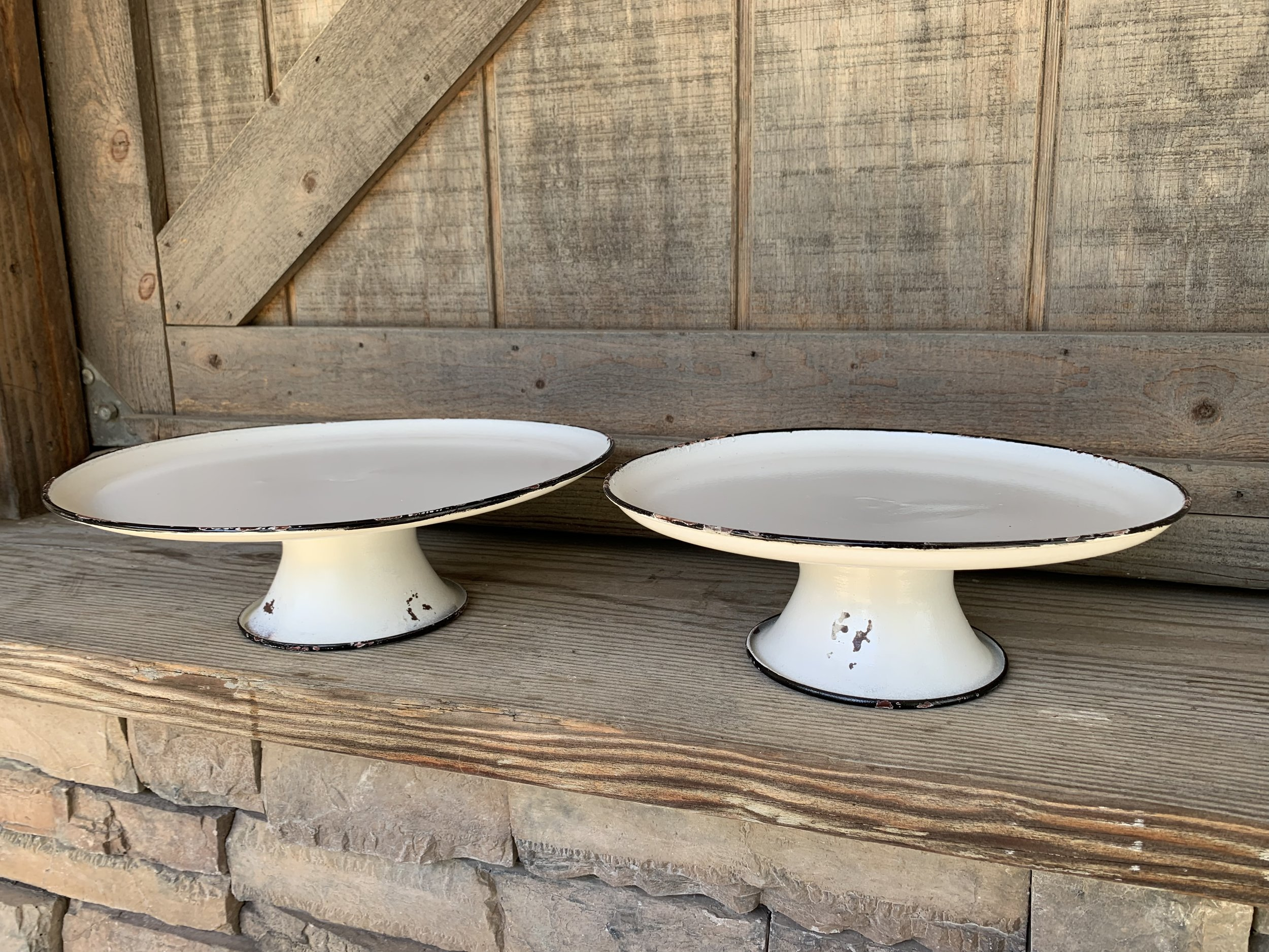 Enamelware Cake Stands - $25 and $30