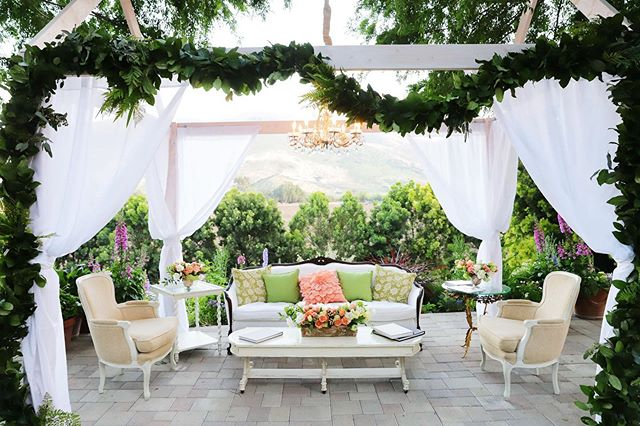 Be our guest... Photo by @kimberleemillerphotography Florals by @xobloom . . . #wedding #weddingvenue #camarillo #venturacounty #farmwedding #gardenwedding #vintagerentals #vintagefurniture