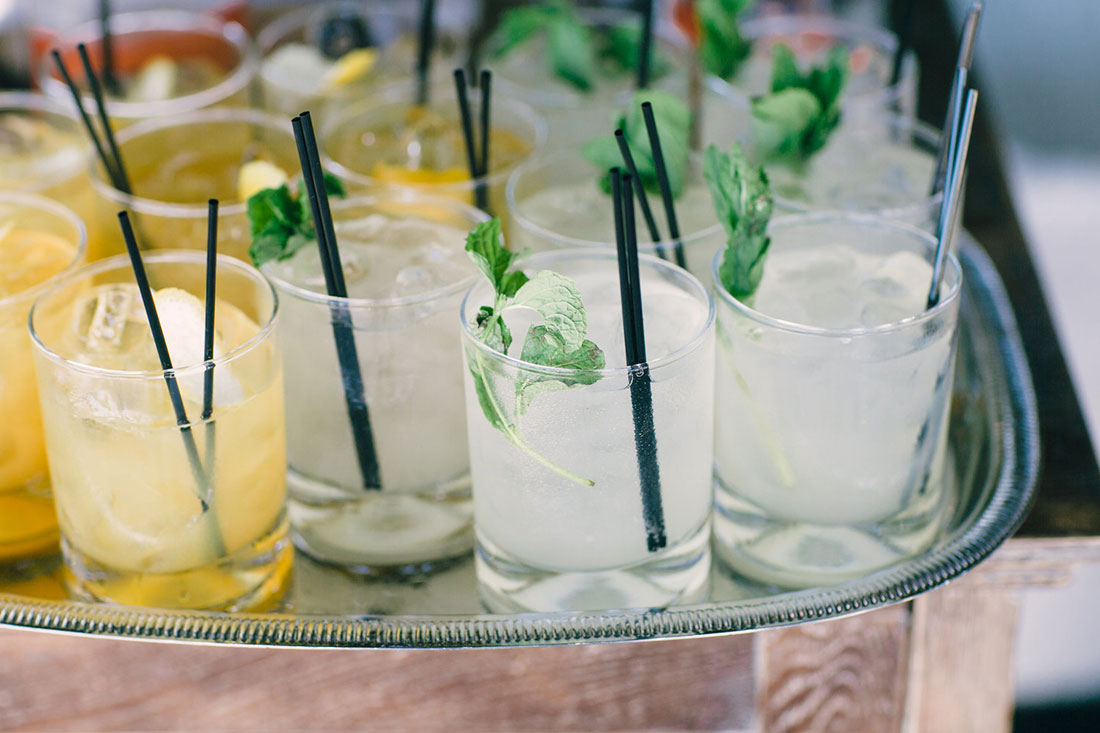 Refreshing drinks for guests to enjoy