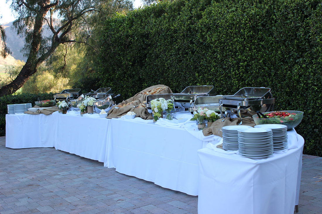 Elegant buffet table