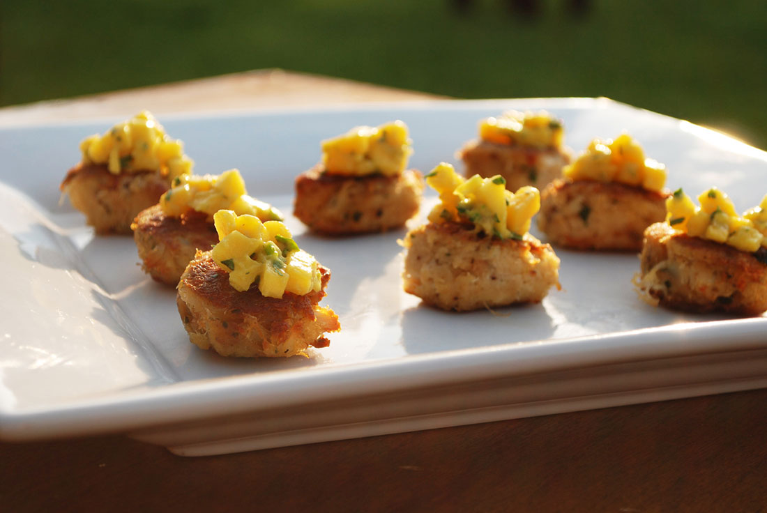 Tasty appetizers carefully crafted by our wedding caterer in Camarillo