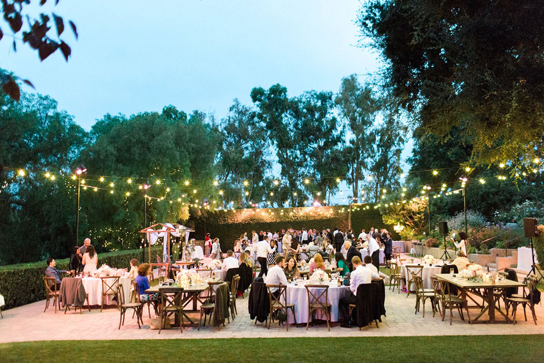 Guests enjoying a beautiful wedding reception