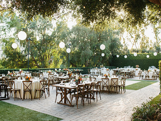 Wedding services provided at the outdoor wedding venues near Orange County.