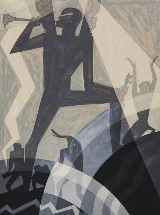 Aaron Douglas,  The Judgment Day  , 1927, gouache on paper. Walter O. Evans Collection.