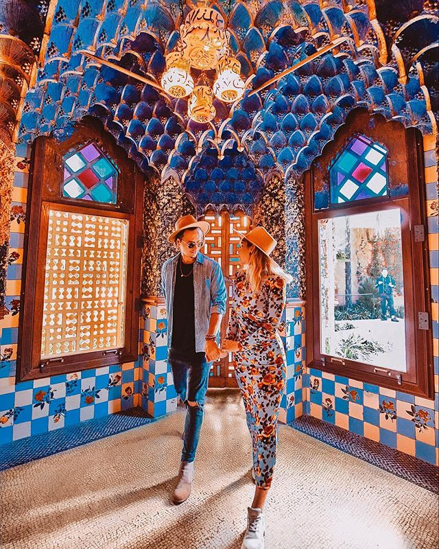 "guess where? always happy to discover new places, especially if they're still ""unknown"" here on insta. So, this is Casa Vicens, Gaudi's first house, say what?!! One of my favorite buildings in Barcelona so far. Have you visited it? @casavicens @visitbarcelona"