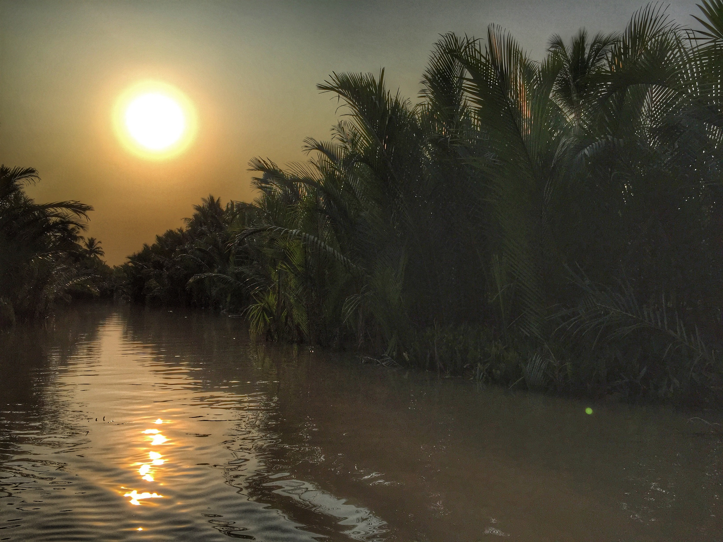 Sunset on the Mekong delta.