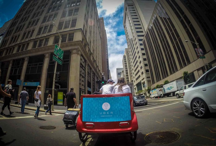 Uber Pedicab Downtown San Francisco