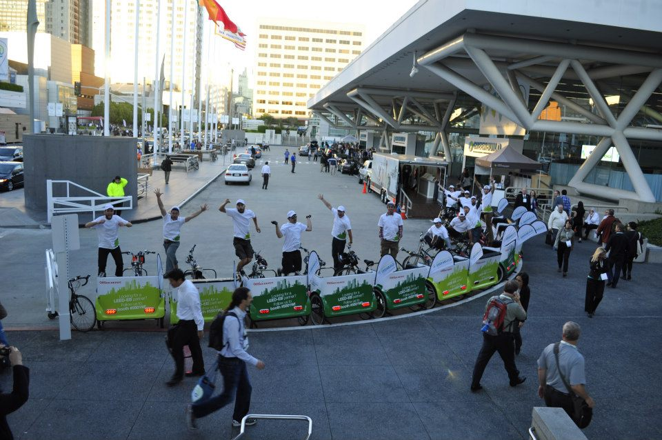 Pedicabs at Moscone Center for Greenbuild 2012