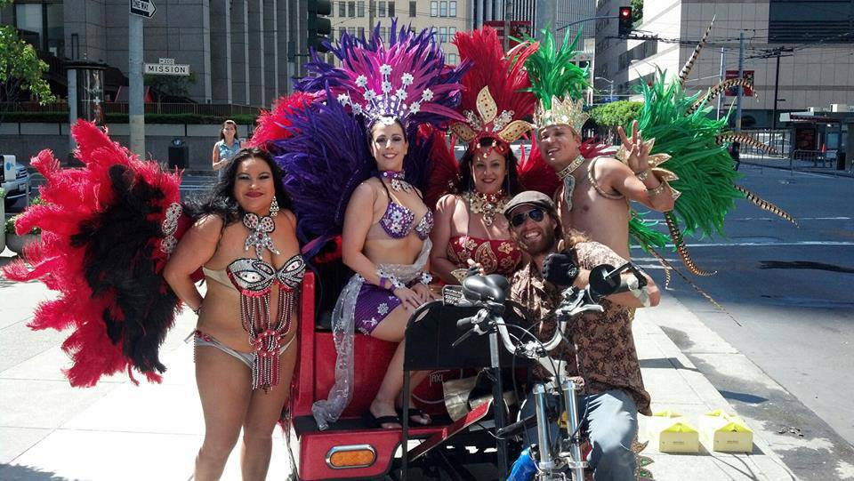 Pedicab Operator at Pride Parade