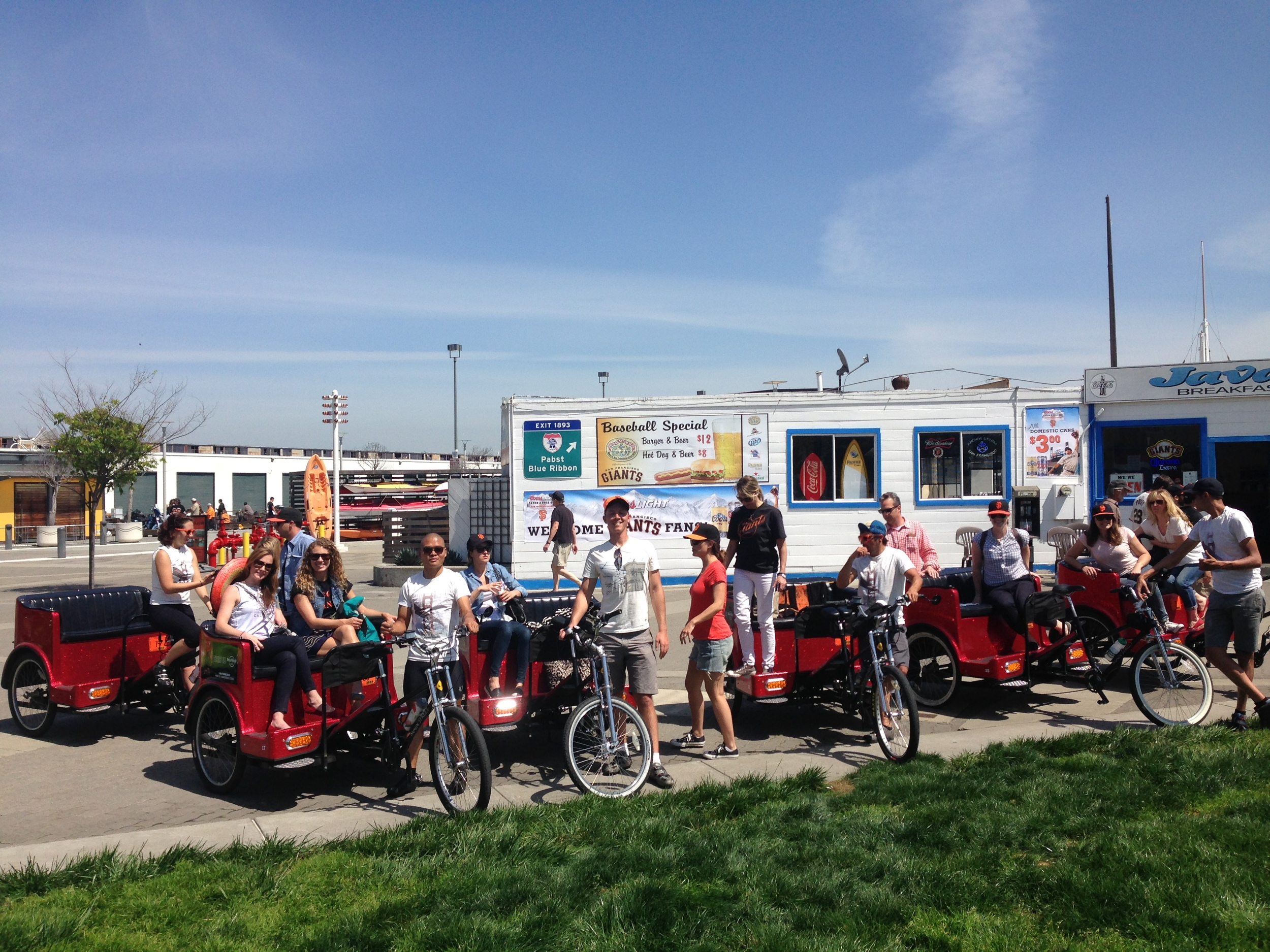 Pedicabs at San Francisco's Java House