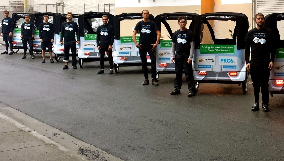 Pros/Chameleon Pedicabs at Dreamforce 2014