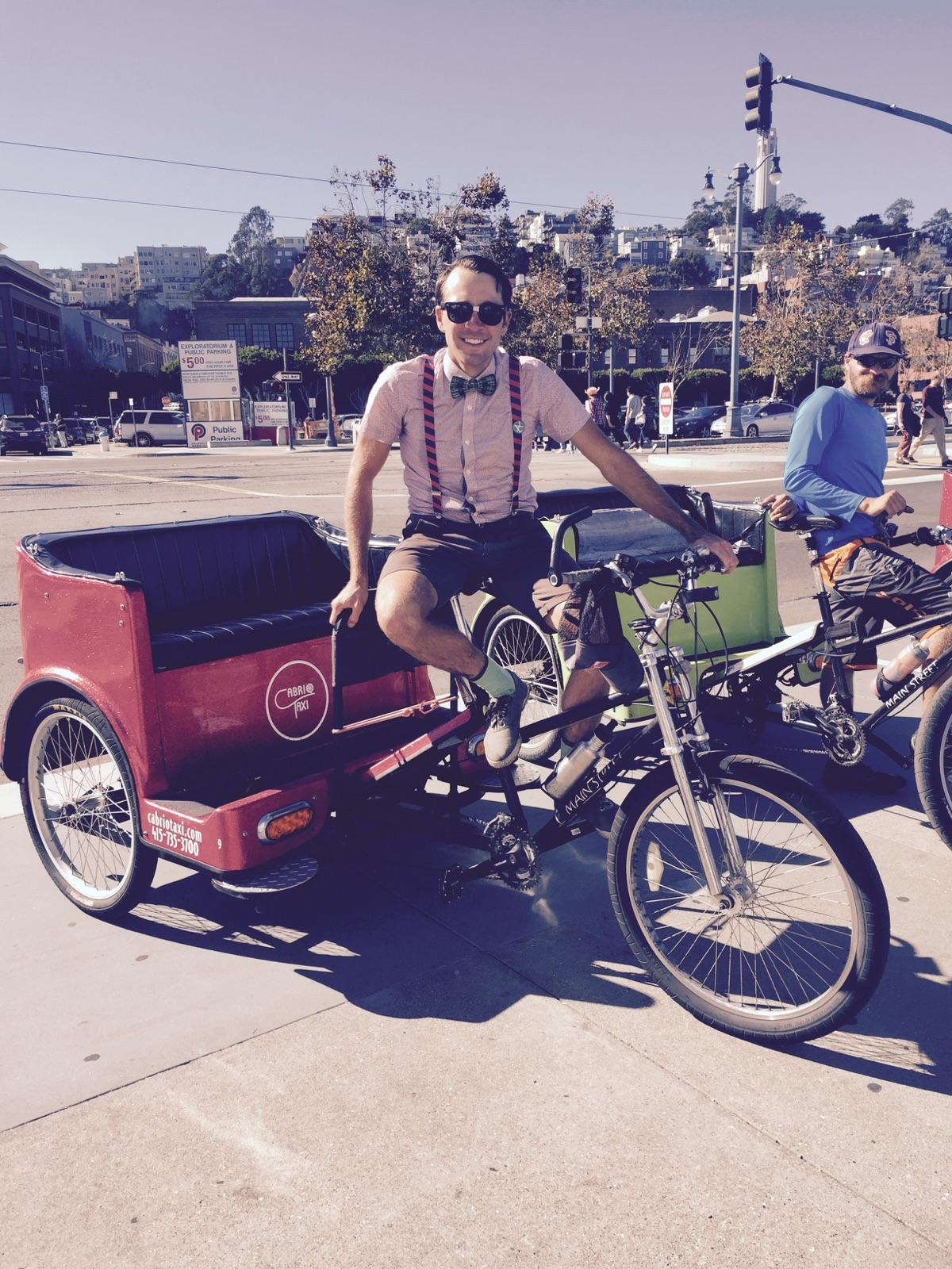 Pedicabs on Halloween