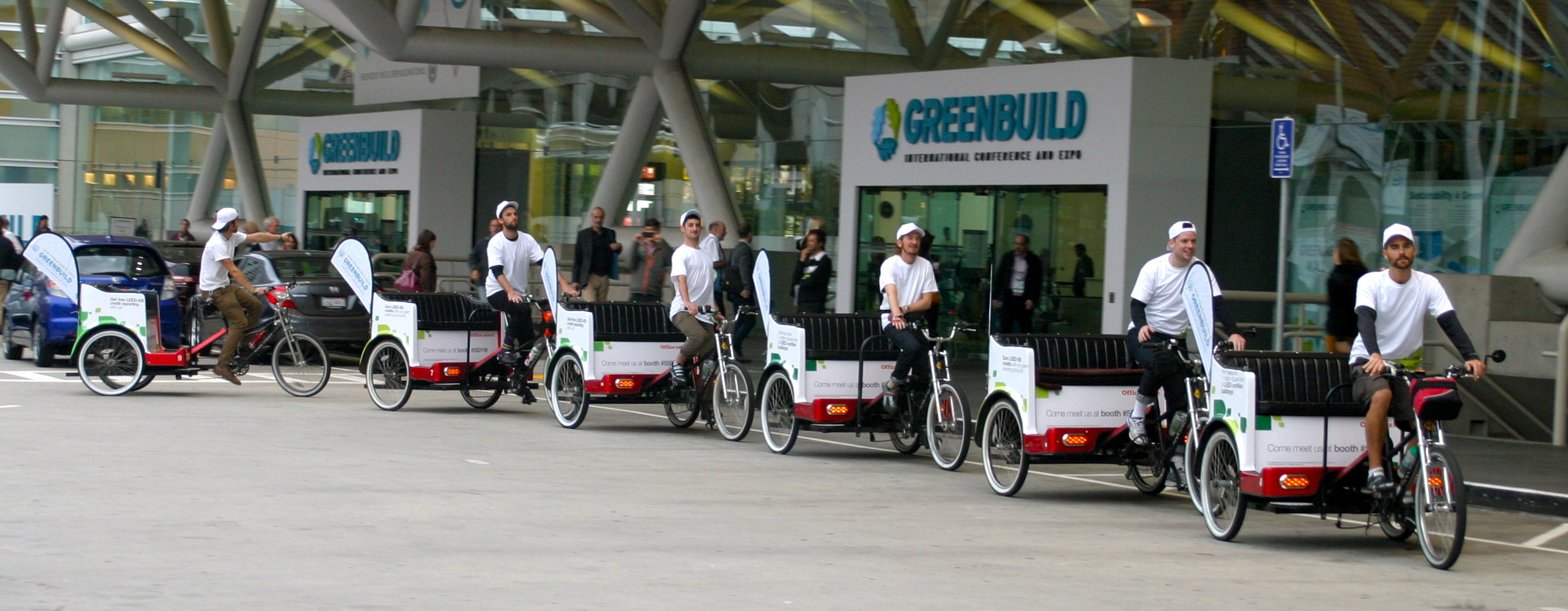 See the Fully Branded Pedicabs of US Greenbuild